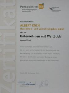 Urkunde 50+